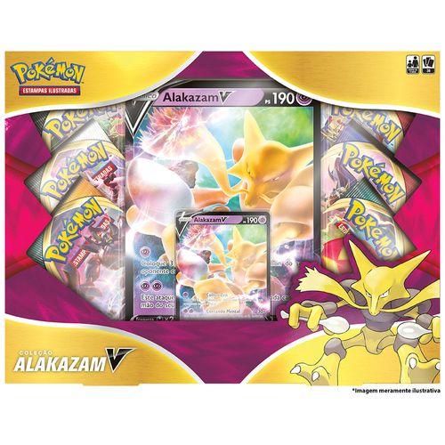 Box Pokémon - Coleção Alakazam V - Copag