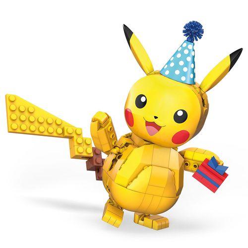 Blocos De Encaixe - Mega Construx - Wonder Builders - Pokémon Aniversário Pikachu