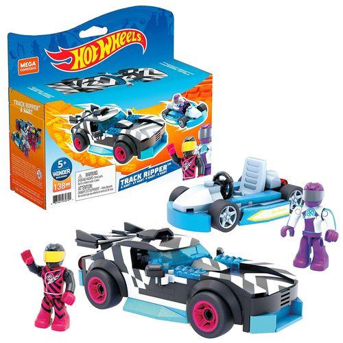 Blocos De Encaixe - Mega Construx - Hot Wheels - Corredor e Kart - 138 peças - Mattel