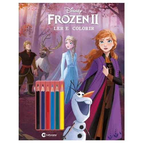 Livro Infantil - Disney - Frozen 2 - Ler e Colorir - Culturama