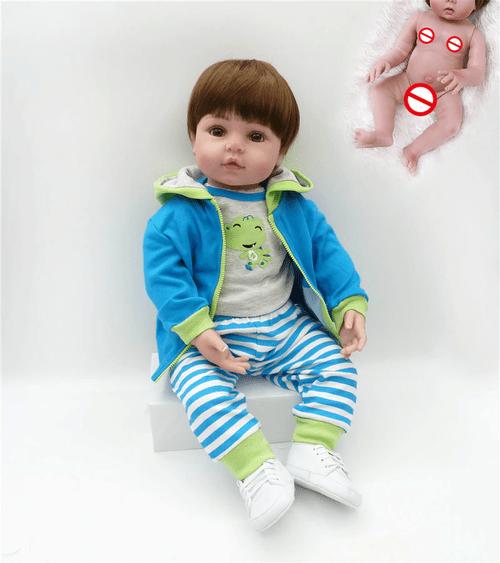 Bebe Reborn Menino 48cm | 100% Corpo de Silicone | Realista | Baby Fashion Verde