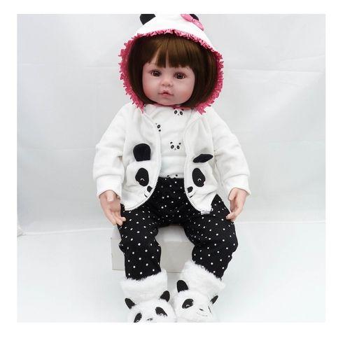 Bebe Reborn 48cm Silicone e Tecido Realista Baby Fashion