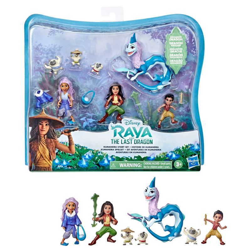 Mini-Bonecas-Disney-Raya-e-o-Ultimo-Dragao-7-Figuras---Aventuras-em-Kumandra---E9474---Hasbro-1