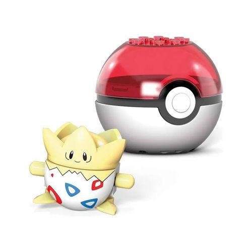 Blocos de Montar - Mega Construx - Pokémon - Pokebola com Togepi - Mattel
