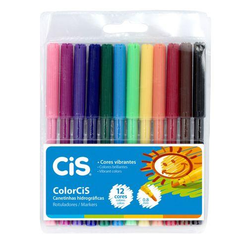 Canetinha Hidrográfica - 12 Cores - ColorCis - Cis