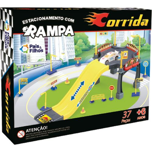 Pista para Carrinhos Estacionamento C/RAMPA Corrida