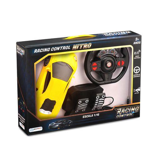 Veículo de Controle Remoto - Racing Control Nitro - Amarelo - Multikids