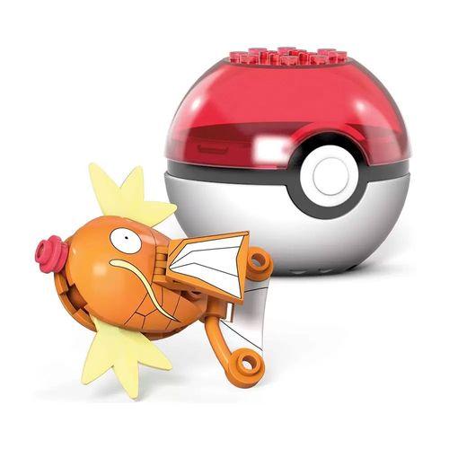 Blocos de Montar - Mega Construx - Pokémon - Pokebola com Magicarpe - Mattel