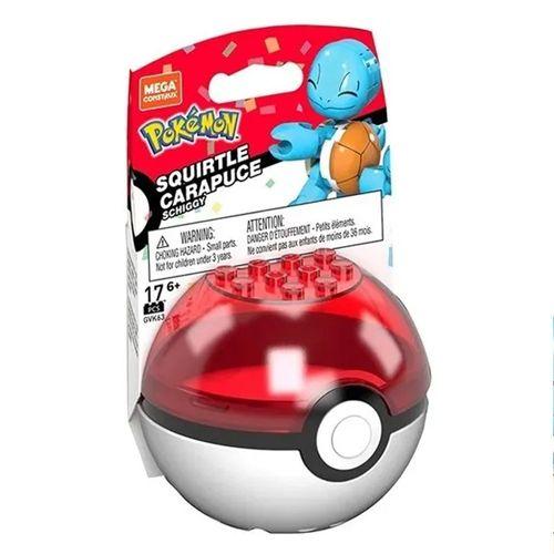 Blocos de Montar - Mega Construx - Pokémon - Pokebola com Squirtle - Mattel