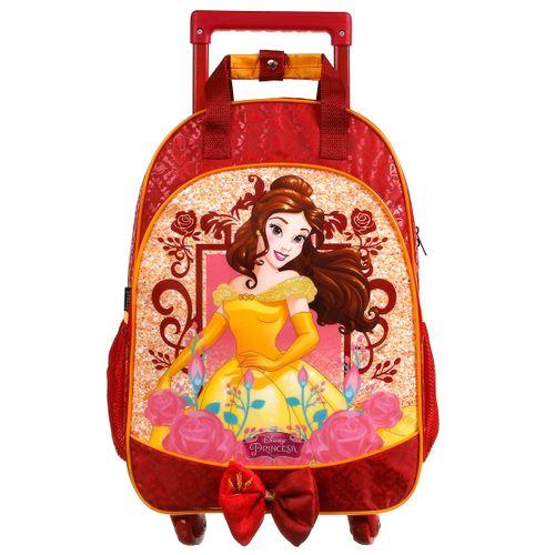 Mochila com Rodinhas Princesas Disney - Bela 37313 - Dermiwil