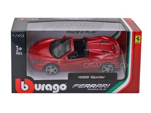 Ferrari 488 Spider Bburago 1:43 Vermelho