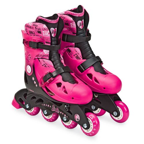 Patins Ajustáveis - 3 Rodas - Barbie - 37/40 - Fun