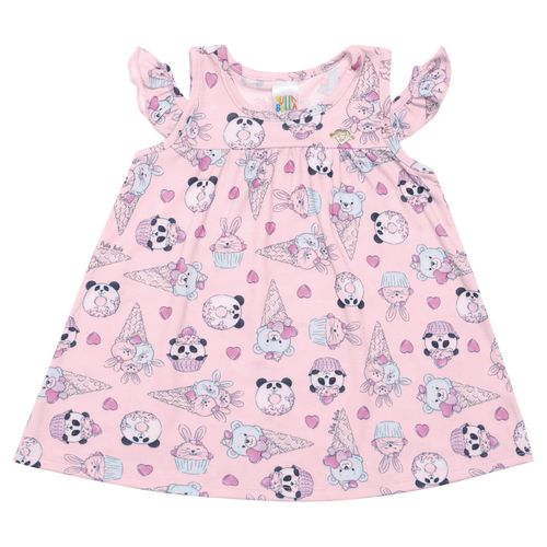 Vestido - Pulla Bulla - Bebê - Malha Leve - Rosa - Menina - M