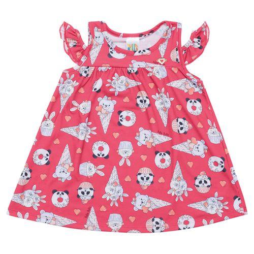 Vestido - Pulla Bulla - Bebê - Malha Leve - Vermelho - Menina - G