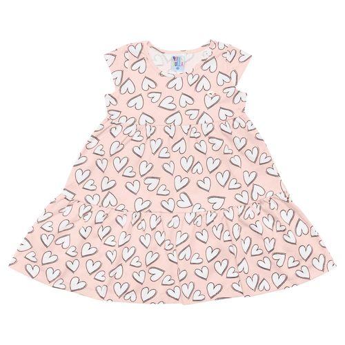 Vestido - Pulla Bulla - Primeiros Passos - Meia Malha - Rosa - Menina - 3
