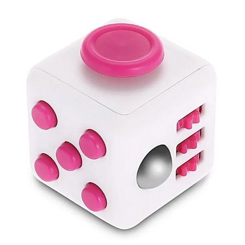 Fidget Cube Cubo ANTI STRESS ROSA/BRANCO Candide 2602