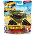 Veiculo-Die-Cast---Hot-Wheels---1-64---Monster-Trucks---Novo-Invader---Mattel_Frente
