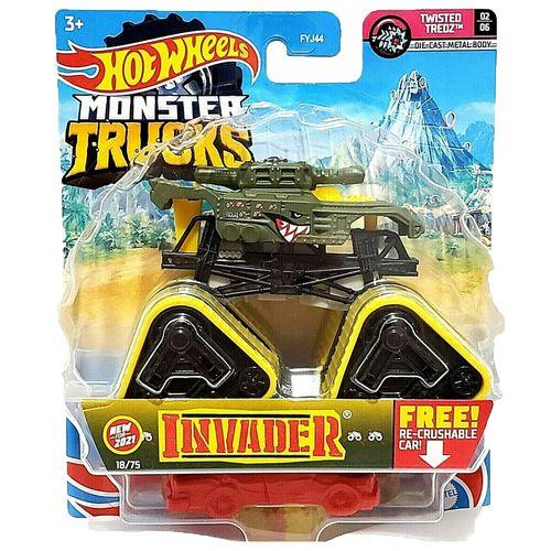 Veículo Die Cast - Hot Wheels - 1:64 - Monster Trucks - Novo Invader - Mattel
