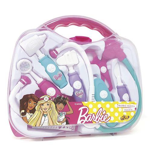 Conjunto de Acessórios - Médica - Maleta - Barbie - Fun