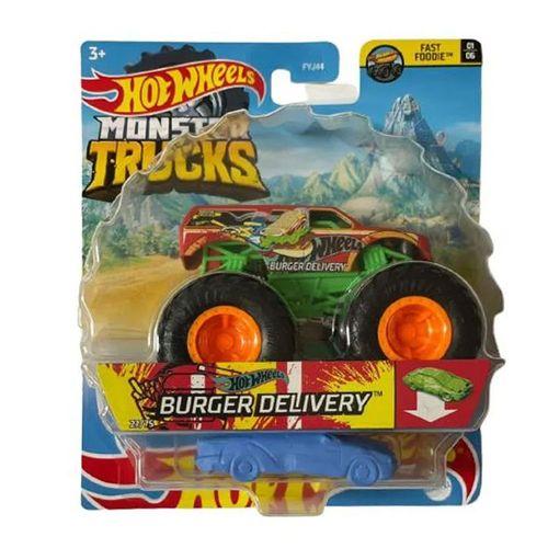 Veículo Die Cast - Hot Wheels - 1:64 - Monster Trucks - Novo Burger Delivery - Mattel