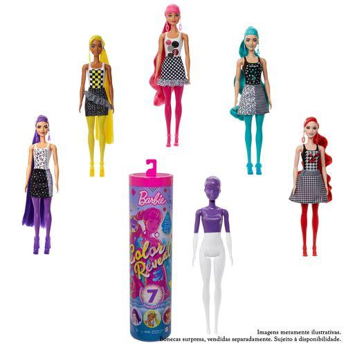 Boneca Barbie - Fashionista - Color Reveal - Monocromática - Mattel