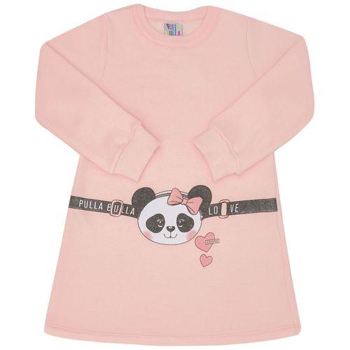 Vestido - Pulla Bulla - Primeiros Passos - Moletinho - Rosa - Menina - 1