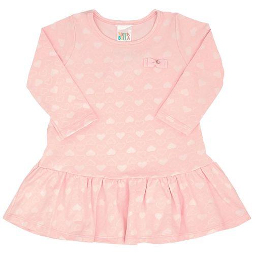 Vestido - Pulla Bulla - Bebê - Jacquard - Rosa - Menina - P
