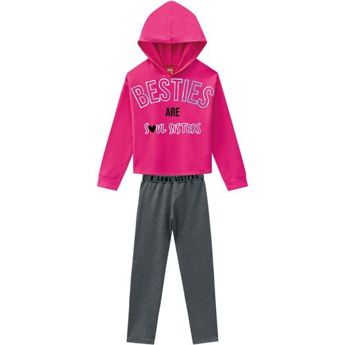 Conjunto Blusa e Legging - Infantil - Kyly - Meninas - Rosa