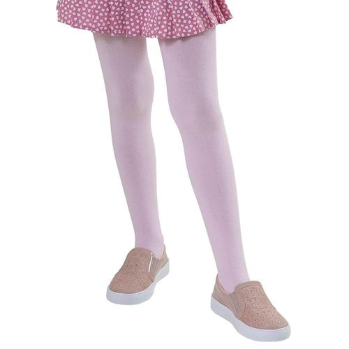 Meia Calça Infantil Menina Algodão Lisa Macia Confortável