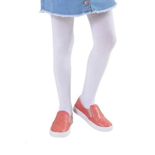 Meia Calça - Infantil  - Algodão  - Meninas - Branca