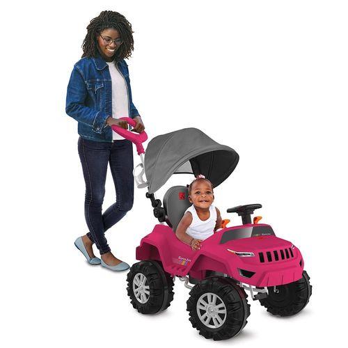 Passeio e Pedal - Superjipe Reclinável com Capota - Pink - Bandeirante