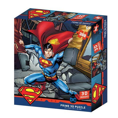 Quebra-Cabeça 3D - 300 Peças - Superman Dc Comics - Multikids
