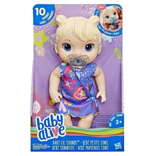 Baby Alive Boneca Primeiros Sons Loira- Hasbro