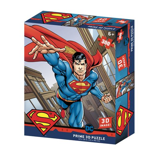 Quebra-Cabeça 3D - 300 Peças - Superman Flying Dc Comics - Multikids