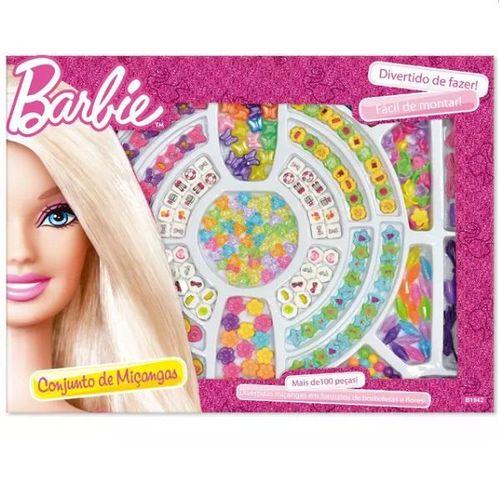 Conjunto de Miçangas Barbie com 100 Pecas FUN F0015-2