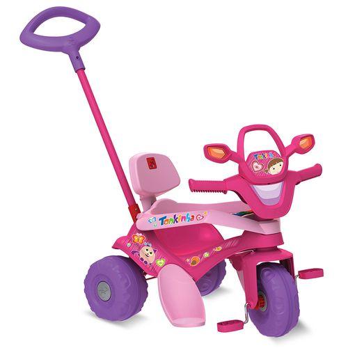 Triciclo de Passeio e Pedal - Tonkinha - Rosa - Bandeirante