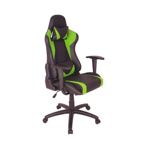 Cadeira Gamer MAG2 com Base Giratória em Nylon - Preto/Verde