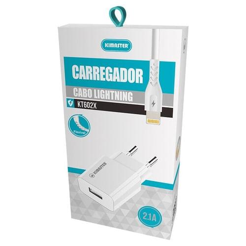 Kit Carregador USB e Cabo Lightning Iphone Kimaster
