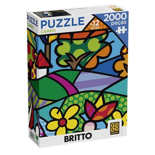 Quebra-Cabeça - Puzzle Campo - Romero Britto - 2000 Peças - Grow