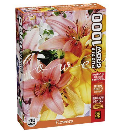 Quebra-Cabeça - Puzzle - Flowers - 1000 Peças - Grow