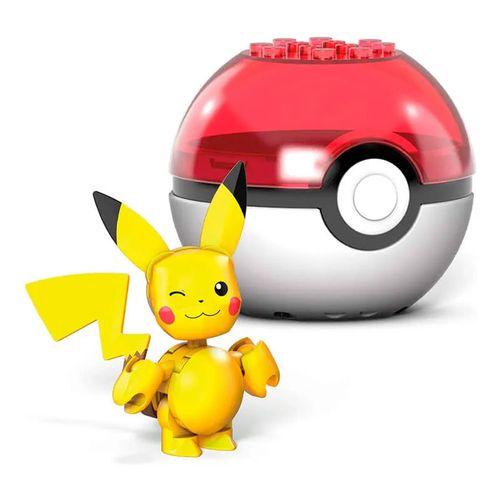 Blocos de Montar - Mega Construx - Pokémon - Pokebola com Pikachu Piscando - Mattel