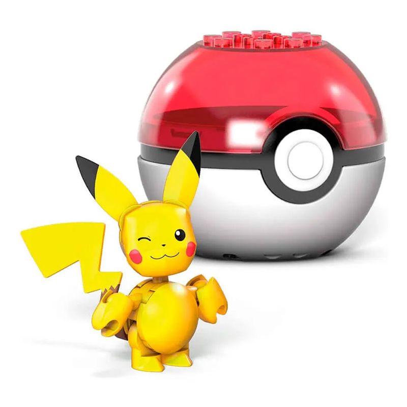 Blocos-de-Montar---Mega-Construx---Pokemon---Pokebola-com-Pikachu-Piscando---Mattel_Frente