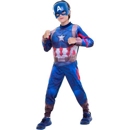 Fantasia Capitão América Infantil Vingadores Ultimato Longa de Luxo