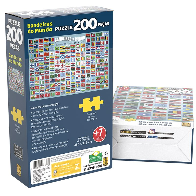 Quebra-Cabeca---200-Pecas---Bandeiras-do-Mundo---Grow-1