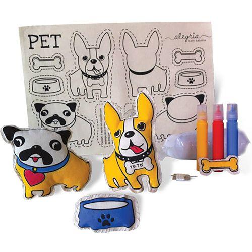 Boneca de Pano para Montar Pets - BO607 - Alegria Sem Bateria