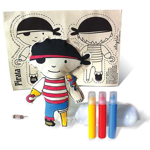 Boneca de Pano para Montar Pirata - BO608 - Alegria Sem Bateria