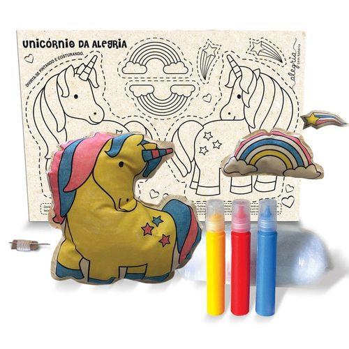 Boneca de Pano para Montar Unicórnio - BO609 - Alegria Sem Bateria