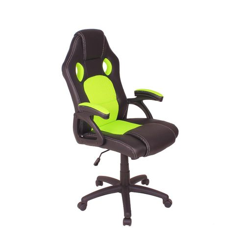 Cadeira Gamer MAG4 com Base Giratória e Relax - Preto/Verde