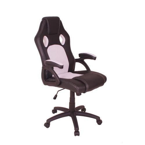 Cadeira Gamer MAG4 com Base Giratória e Relax - Preto/Branco