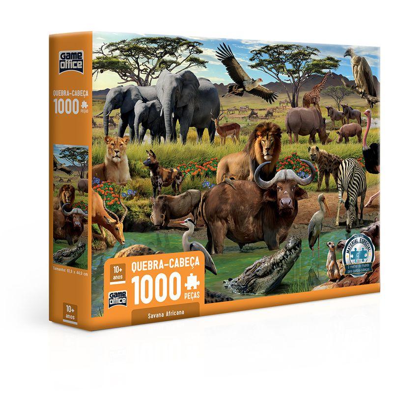 Quebra-Cabeca---1000-Pecas---Savana-Africana---Toyster-0